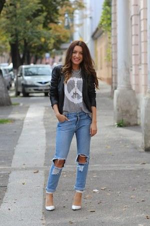 choiescom jeans - Romwecom t-shirt - Stradivarius pumps