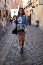 Zara skirt - Stradivarius boots - liu jo shirt