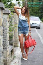pull&bear bag - Zara jumper - Stradivarius heels