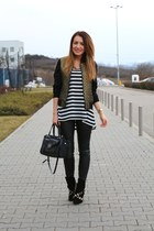 Zara shoes - fishbone jacket - Guess bag - Zara pants