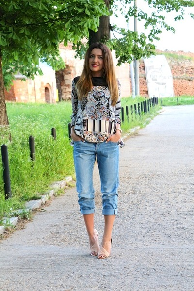 hm jeans - Zara heels