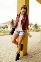 Bershka jacket - Fat Face boots - Bershka shorts