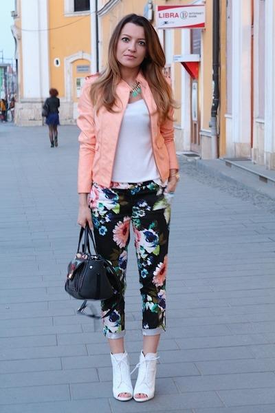 Zara shoes - c&a jacket - Guess bag - hm pants