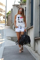 chicnovacom bag - Bershka shorts - Zara top