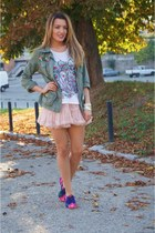 DIY jacket - Local store skirt