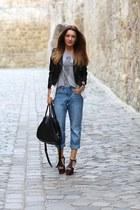 H&M jeans - romwe jacket - Vero Moda t-shirt