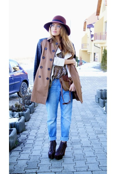 pieces hat - Jeffrey Campbell jeans - H&M jeans