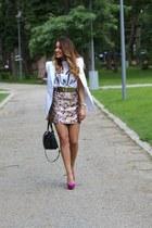 Guess bag - tshirt-factory t-shirt - hm skirt - Zara pumps