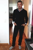 NavyBoot shirt - NavyBoot blouse - H&M panties - H&M flats