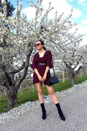 Marshalls bag - Zara boots - Topshop dress - Forever 21 belt