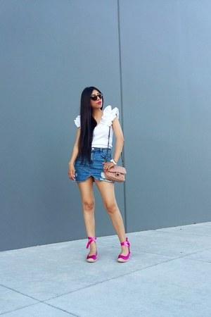 Zara skirt - Mango bag - Zara sandals - Zara top