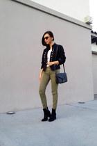 Guess jacket - Zara boots - romwe top - Stradivarius pants