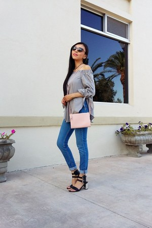 H&M jeans - Old Navy bag - vogue eyewear sunglasses - Sheinside blouse