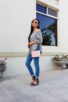 H&M jeans - Old Navy bag - vogue eyewear sunglasses - Sheinside blouse