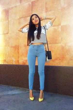Sheinside blouse - H&M jeans - Bershka heels
