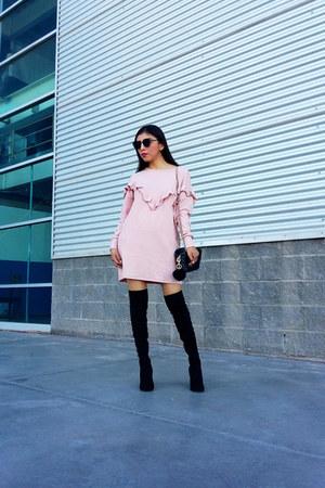Zara bag - Zara boots - makemechic dress