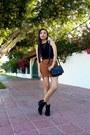 Black-gillio-boots-black-forever-21-bag-brown-romwe-skirt-black-romwe-top
