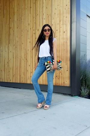 Aldo bag - Gap jeans - Bootlegger blouse - Bershka wedges