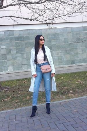 Dynamite coat - Aldo boots - Gap jeans - Zara t-shirt