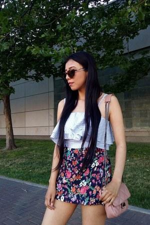 LOB top - Mango bag - Zara skirt - Aldo heels