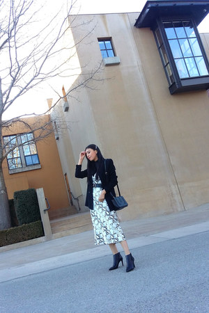 Mango boots - Marshalls dress - Mago blazer