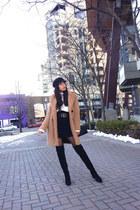 Zara boots - Zara coat - Zara skirt