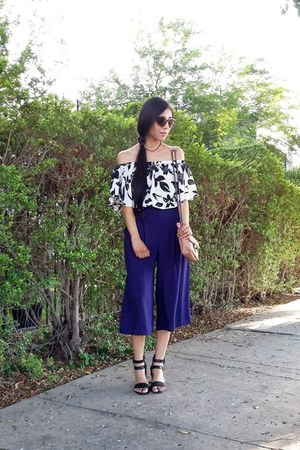 Mango bag - Biography pants - Sheinside blouse - JustFab heels
