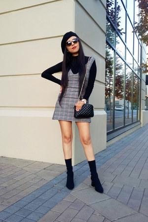 Zara boots - Topshop dress - Zara hat - Zara bag - Zara t-shirt