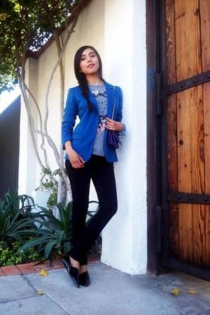 Love Culture blazer - Forever 21 jeans - Zara t-shirt - Zara flats