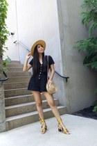black Zara romper - mustard Mango sandals