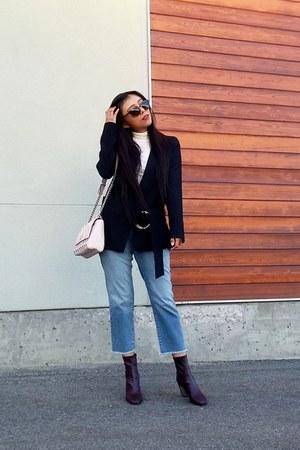 Topshop blazer - Zara boots - Vero Moda jeans - Guess bag