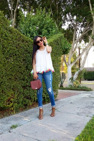 Sheinside blouse - LOB jeans - Zara bag