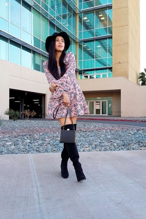 Zara boots - LOB dress - H&M hat - Forever 21 bag