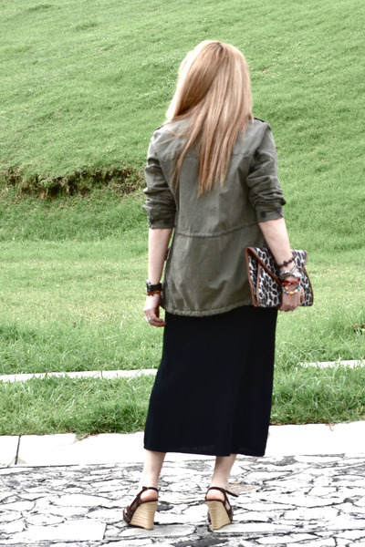 Zara jacket - vintage dress - pull&bear bag