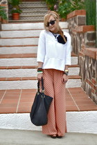 Zara pants - Zara bag - Zara blouse