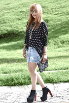 Zara blouse - Jeffrey Campbell shoes - Zara bag