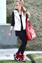 Bershka bag - Isabel Marant sneakers - Bershka vest