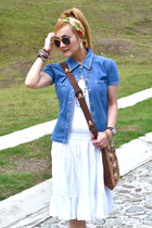 Gap shirt - vintage bag - Gap skirt