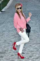 Forever 21 shoes - Zara jeans - Zara blouse