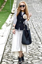 Mango skirt - Zara bag - Forever 21 vest