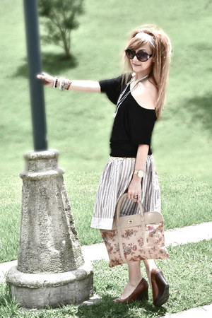 Stradivarius bag - Bershka shirt - H&M skirt
