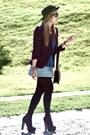 Forever21-boots-zara-blazer-vintage-skirt