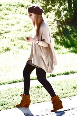 Zara shirt - Stradivarius boots - Bershka skirt