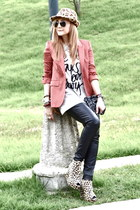 Zara blazer - pull&bear hat - Zara shirt