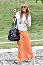Zara skirt - Forever 21 bag - Zara cardigan