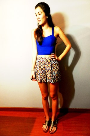 vestimenta blouse - BLANCO shorts
