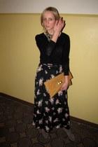 suede La Redoute boots - H&M shirt - Primark bag - vintage skirt - Primark neckl