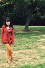 Red-anthropologie-jacket-brown-macys-dress-orange-anthropologie-tights-bro