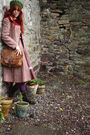 Gunne-sax-dress-vintage-coat-tk-maxx-boots-pennies-tights-thrifted-bag-
