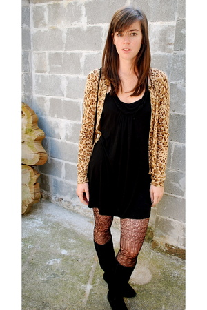 H&M sweater - Anthropologie tights - vintage purse - Urban Outfitters dress